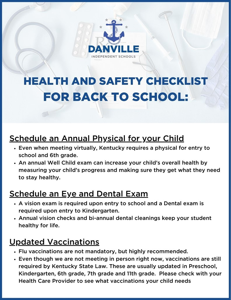 Back to School: Health and Safety Checklist